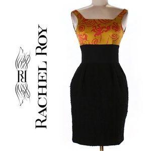 Rachel Roy Dresses & Skirts - Rachel Roy Black & Asian Print Shift Dress Sz 2