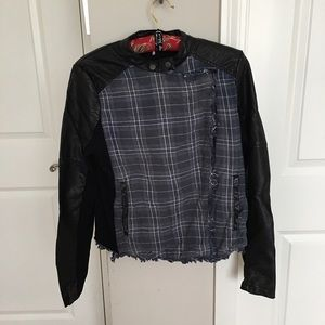 💝Free People Unique Leather Jacket💝