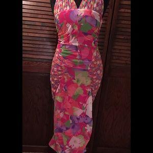 Versus By Versace Dresses & Skirts - Versace Versus Pink Floral Print Halter Top Dress