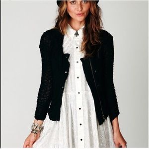 Free People Lace Zip Jacket