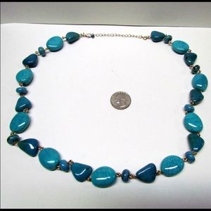 Vintage Turquoise Colored Statement Necklace