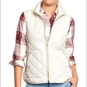 Old Navy Jackets & Blazers - Ivory quilted vest