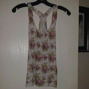 Body Central Tops - Super soft and cute floral racerback tank top