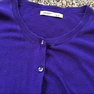 Old Navy Sweaters - Purple cardigan