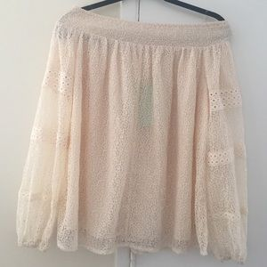 Zara Gorgeous off the shoulder top Sz Small