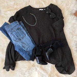 360 Sweater Sweaters - 360 Sweater Asymmetrical Openweave Sweater