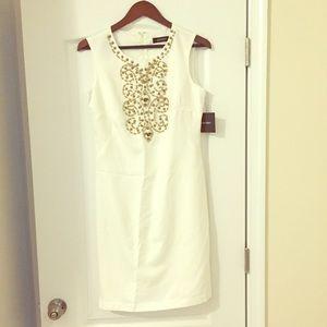 Ellen Tracy Beaded Dress- Size 8