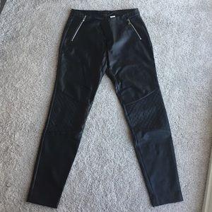NWOT - Zara faux leather black pants