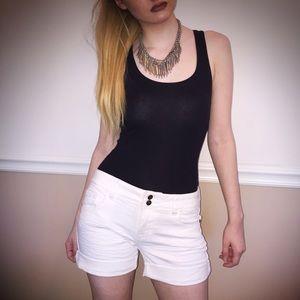  White dELiA's Denim Jean Shorts 