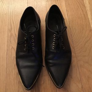 Kurt Geiger Shoes - Kurt Geiger Black Leather Oxford Shoes