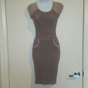 Pink and grey sexy dress by may pink size small