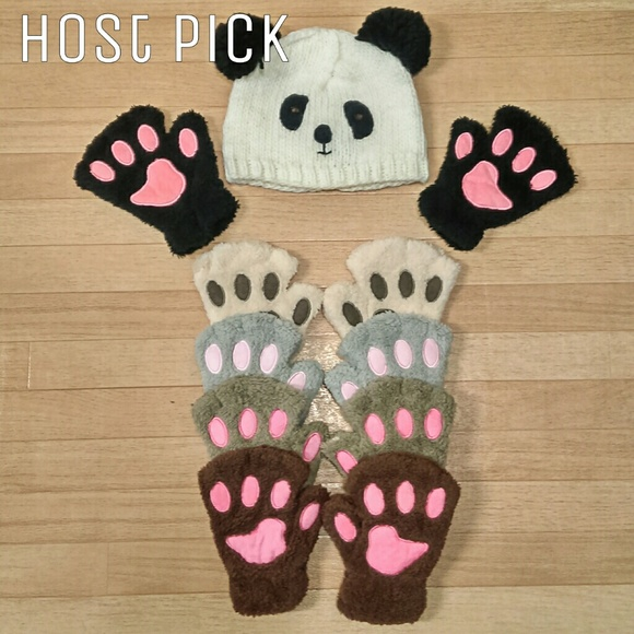 Boutique Accessories - Paw Gloves (Bear/Cat Paws)