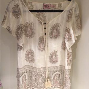 Juicy Couture paisley top