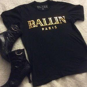 NWOT Brian Lichtenberg Ballin Paris Tee Unisex S