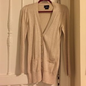 It's Our Time Sweaters - Long Button Up Cream Sweater Size S