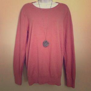 LOFT Dusty Rose Crewneck Sweater