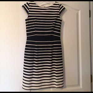 Loft knit striped dress