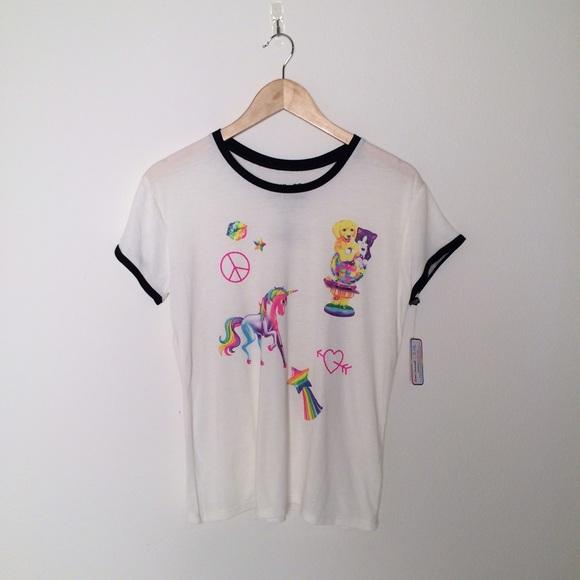 f06f6630586b0 Lisa Frank T-Shirt Rainbow Kitten Unicorn Juniors