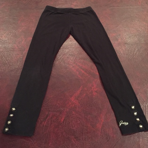 Juicy Couture Other - Juicy couture leggings w/juicy buttons &signature