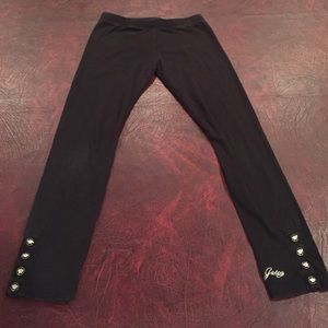 Juicy couture leggings w/juicy buttons &signature