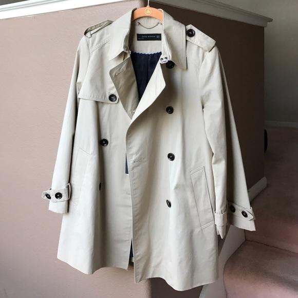 650f4132 Zara Jackets & Coats   Short Trench Coat In Beigelight Tan Size Xs ...