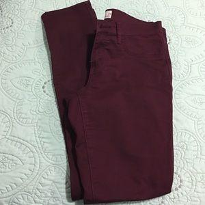 Pants - Maroon jeggings