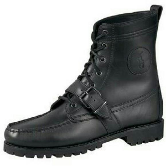 7f6f9944df4 Polo Ralph Lauren Ranger Black Boots