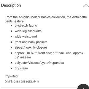 ANTONIO MELANI Pants - Antonio Melani Antoinette Pants💓