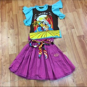Oilily Other - Oilily Aloha Set Outfit Skirt Top 104 4