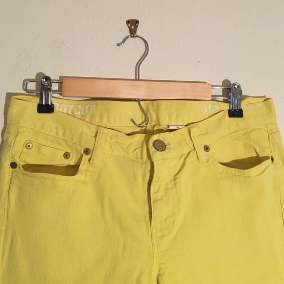 73% off J. Crew Denim - Bright Yellow JCrew Bootcut Jeans from ...