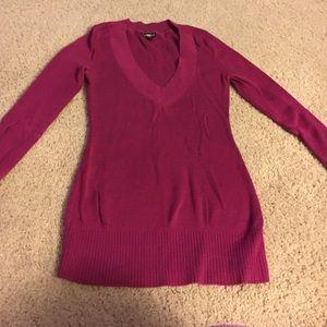 Express pink dress sweater