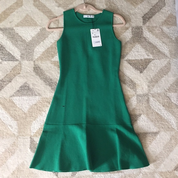 d9c63337 Zara Dresses | Nwt Green Knit Dress S | Poshmark