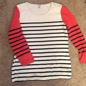 J Crew size small striped sweater