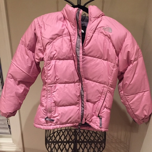 34bad2ccb Girls North Face Puffer Jacket Pink Large