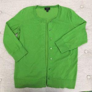 Talbots Sweaters - Talbots Pima Green Cardigan Petite