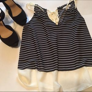 Double Zero Tops - NWOT Striped Flowy Tank