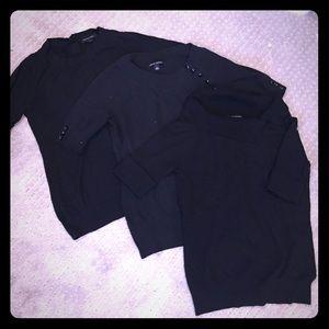 Banana republic black sweaters**Bundle of 3*