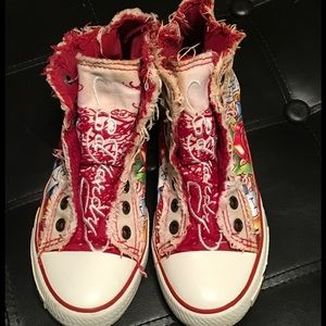 Ed Hardy Shoes - 👣🎉Ed Hardy distressed converse style shoes🎉👣