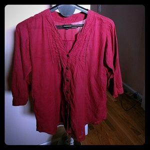 Organic dye, cotton red tunic