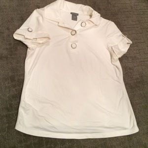 Ann Taylor white short sleeve top