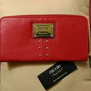 Nicole Miller Handbags - NWT. Nicole Miller Wallet - Red studded