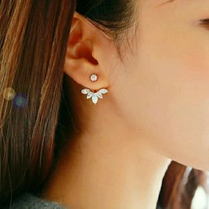 Front back studded earings
