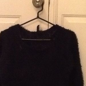 Sweaters - Fuzzy navy sweater