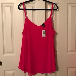 Torrid hot pink blouse