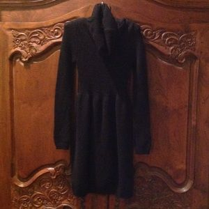 Vince black wool blend sweater dress XS