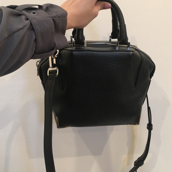 310f89458c Alexander Wang Mini Emile pebbled black w  rhodiu
