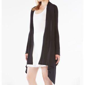 Charcoal Grey CARDIGAN Cape Sweater w/ Cherry
