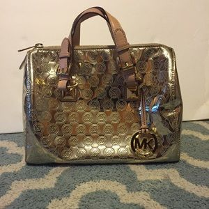 Michael Kors metallic mirror purse