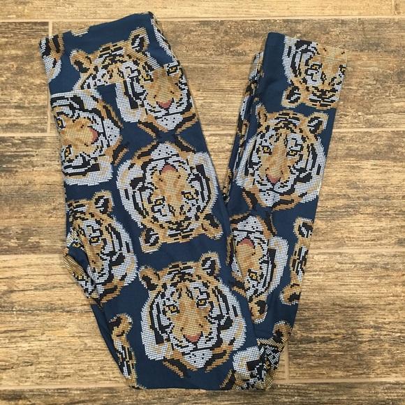 7058d745cc64f LuLaRoe Pants   Nwt Navy Pixel Tiger Leggings Os   Poshmark