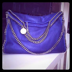 Stella McCartney Handbags - Stella McCartney Blue Fold Over Falabella Bag